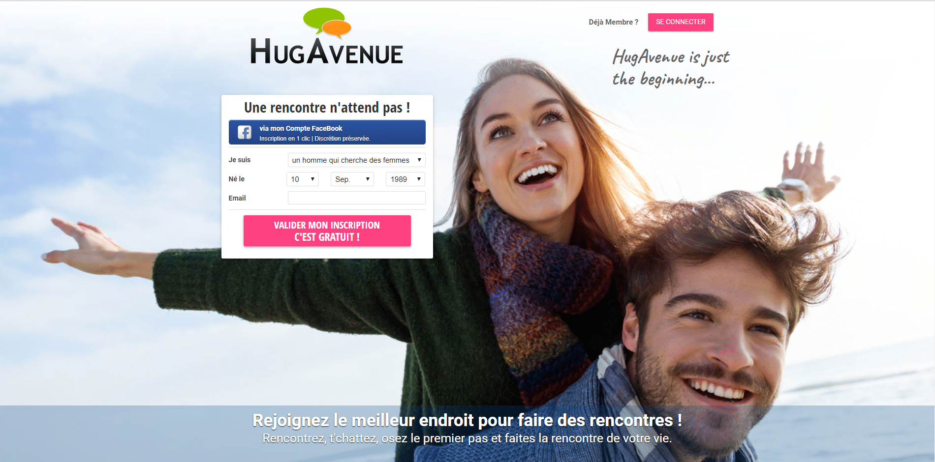 inscription hug avenue