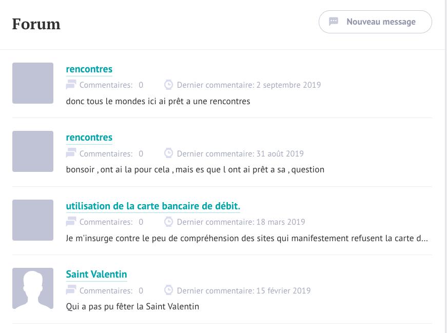 Forum du site Café du Net