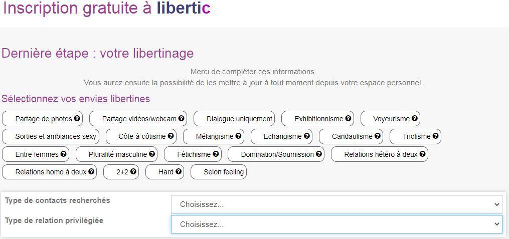 Parlez de votre libertinage sur Libertic