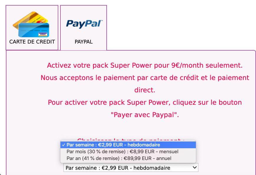 Prix abonnement Abcoeur pack Super Power