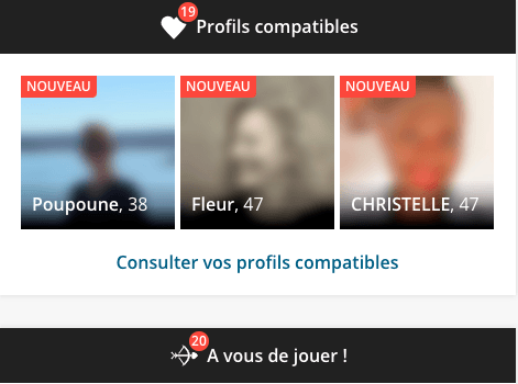 Profils compatibles sur eDarling