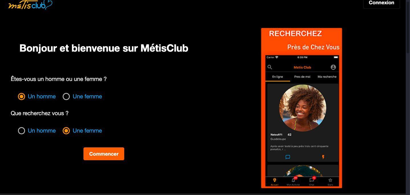 S'inscrire sur Metisclub