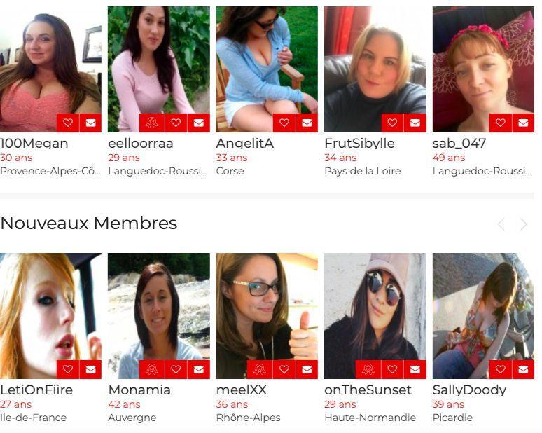 Types de profils inscrits sur Coup d'un Soir