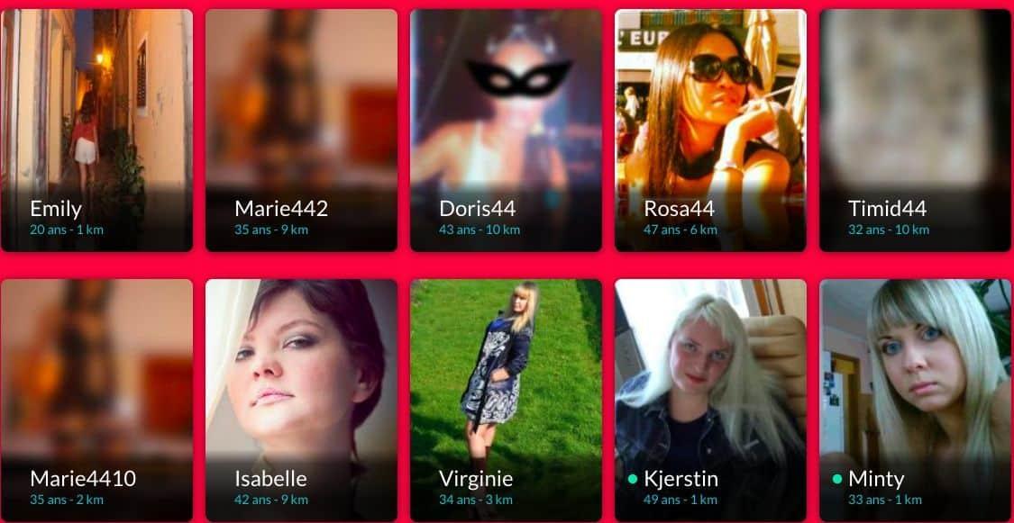 Types de profils inscrits sur Xflirt